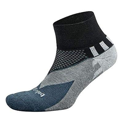 Balega Enduro V-Tech Quarter Socks For Men and Women (1 Pair), Black, X-Large