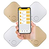 Key Finder Smart Tracker, Key Finder with APP for Phones, Item Tracker Device with Map Location Tracking for Keys, Wallet, and Bags, Bluetooth Tracker and Finder with Replaceable Battery (4Packs)