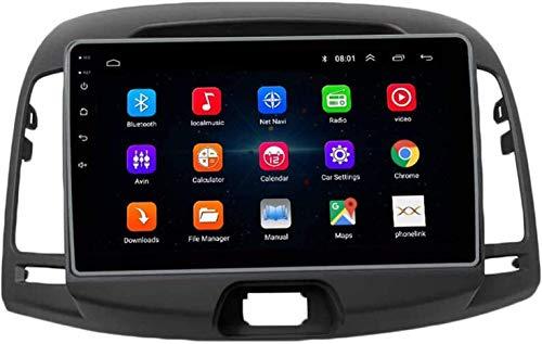 AEBDF Android 10.0 Coche Sat Nav para Hyundai 2007-2010, Pantalla Touch IPS de navegación GPS, Player Multimedia STC Multimedia SWC en línea/Offline Mapa,4 Core 4g+WiFi 1+32g