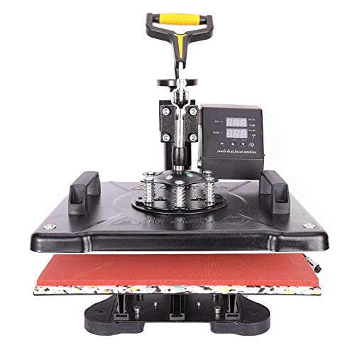 CO-Z Heat Press Machine Professional 360 Swing-Away T-Shirt Press for Shirt, Phone Case, Mouse Pad, Tote Bag, Pillow Case, Coasters, Puzzles, Tiles for Home and More (12x15 Inch)