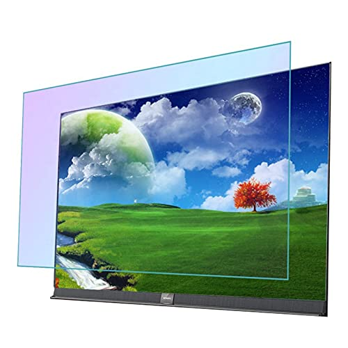GFSD Película de Pantalla TV Antideslumbrante Filtro de Luz Azul Anti Antirradiación/Antiarañazos Adecuado for LCD, LED, 4K OLED Y QLED Y Pantalla Curva