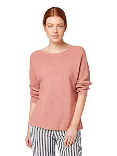 TOM TAILOR Damen Pullover & Strickjacken Pullover mit Streifenstruktur Vintage Rose,L