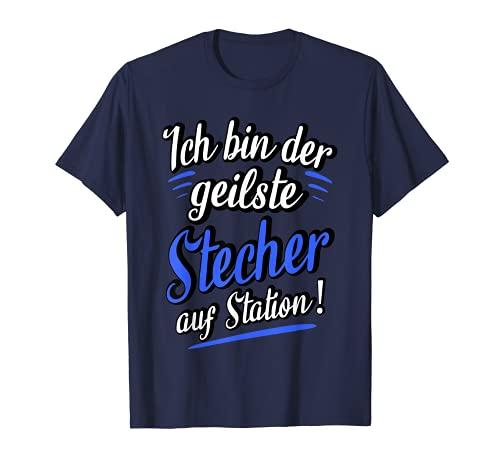 Hombre Divertido cuidado de enfermería con frases divertidas. Camiseta