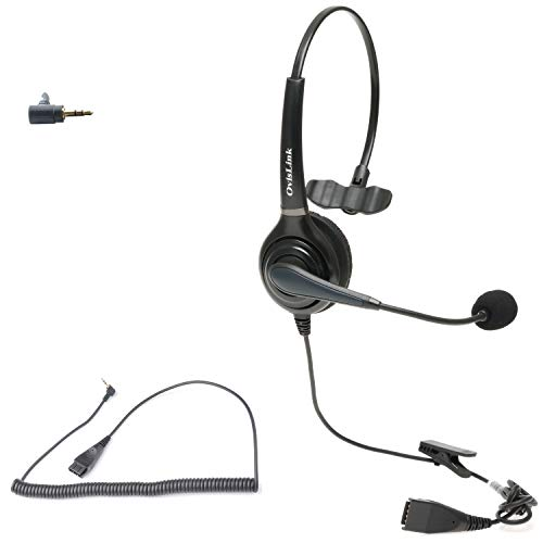 Polycom SoundPoint Phone Headset | Noise Canceling Call Center Headset Compatible with Polycom SoundPoint IP Phone with 2.5mm Headset Jack | HD Voice Quality | Flexible & Rotatable Microphone