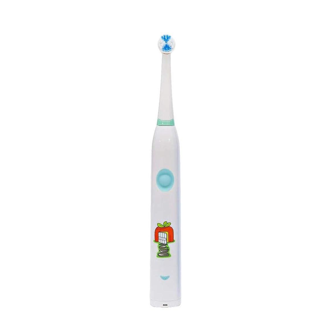 背が高い娘農学自動歯ブラシ 子供のかわいいUSB充電式電動歯ブラシ (色 : 白, サイズ : Free size)
