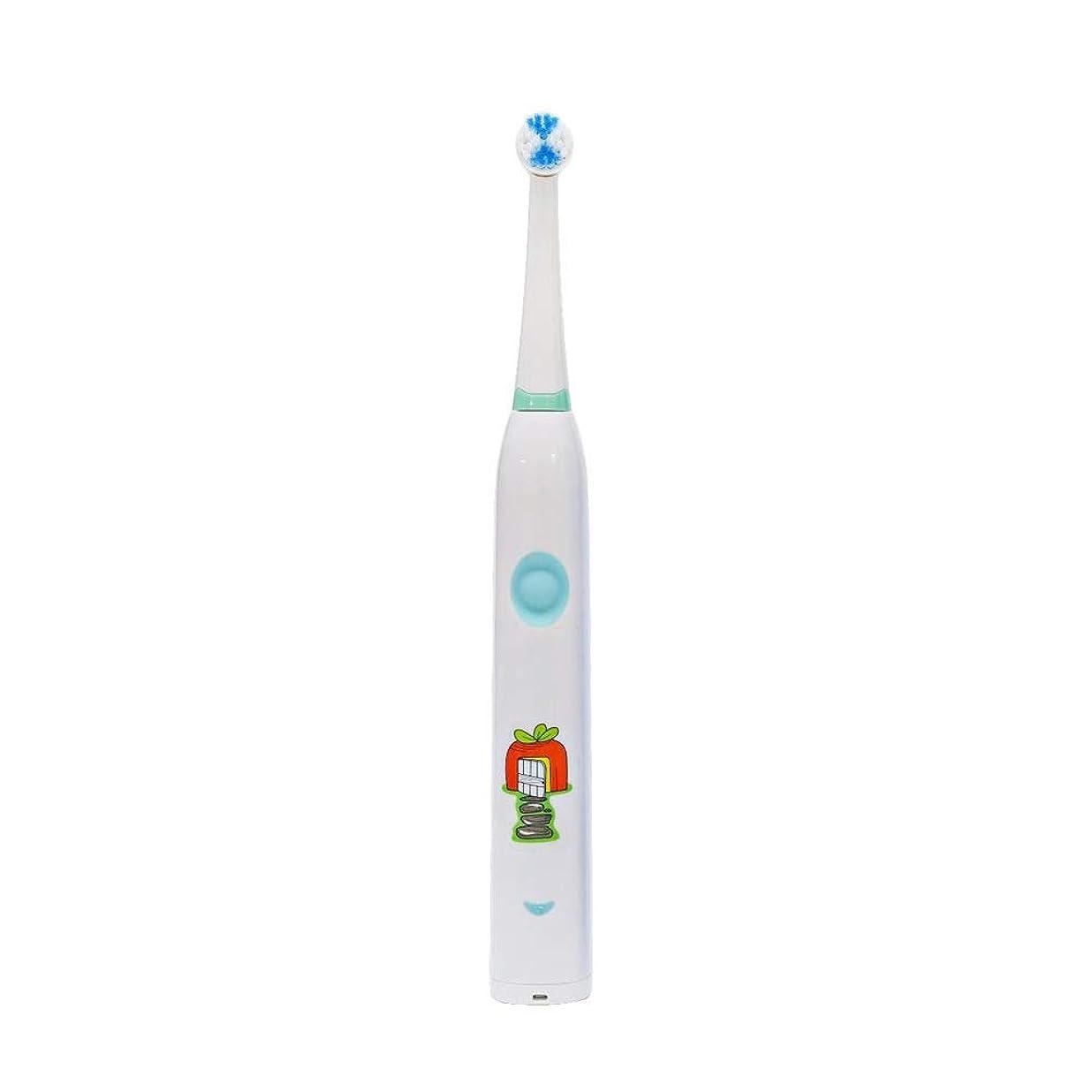 フィットネス酸化する努力する自動歯ブラシ 子供のかわいいUSB充電式電動歯ブラシ (色 : 白, サイズ : Free size)
