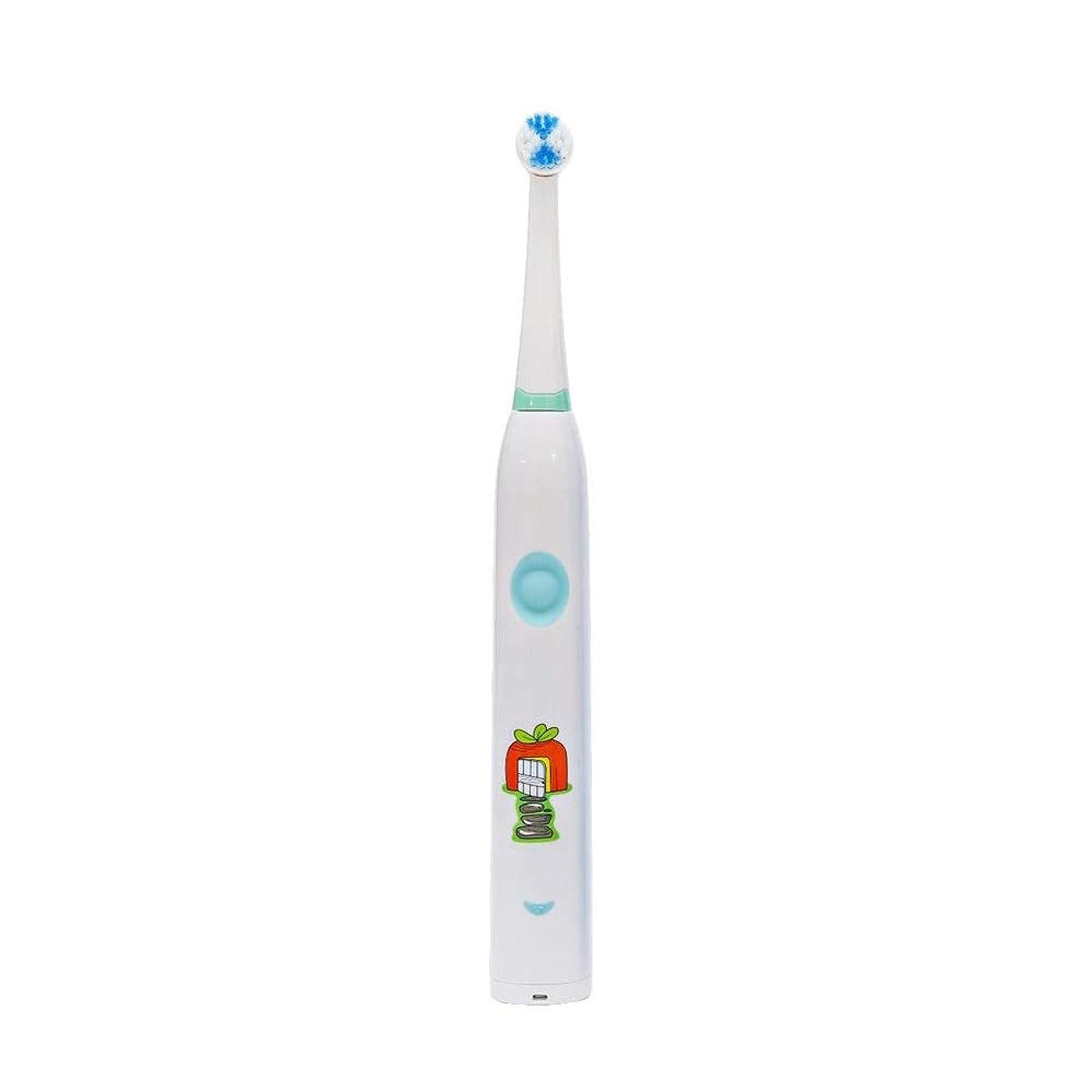 ジョージエリオット口述する知覚できる電動歯ブラシ 子供用電動歯ブラシかわいいUSB充電式歯ブラシ ケアー プロテクトクリーン (色 : 白, サイズ : Free size)