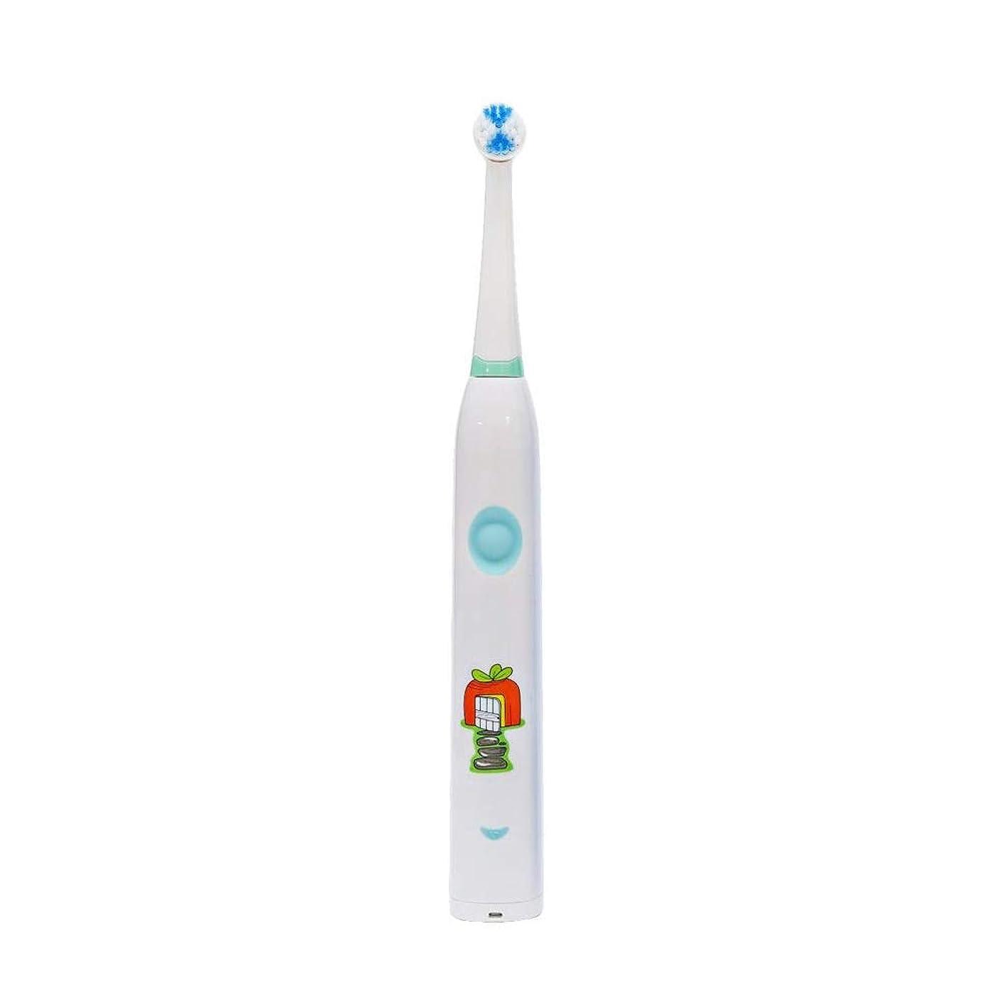 男らしさゆりリアル子供用電動歯ブラシかわいいUSB充電式歯ブラシ 完全な口腔ケアのために (色 : 白, サイズ : Free size)