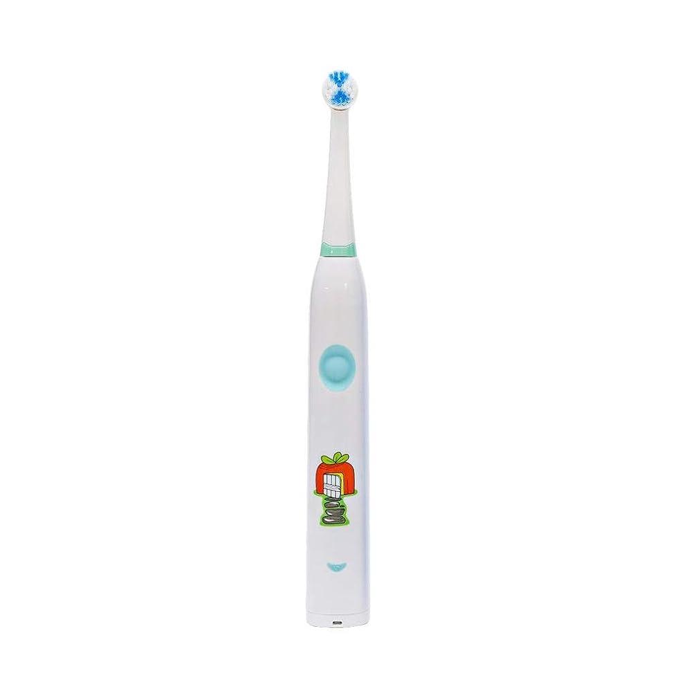 最小化する火曜日一般的に自動歯ブラシ 子供のかわいいUSB充電式電動歯ブラシ (色 : 白, サイズ : Free size)
