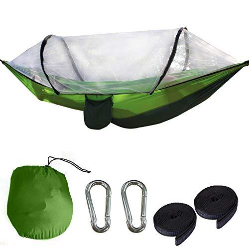 YSCYLY Draagbare Ultra-Licht Parachute Hangmatten, Nylon Quick Open Hangmat 260 * 140cm,Swing Sleeping Hangmat Bed voor buiten, Wandelen, Backpacking, Reizen