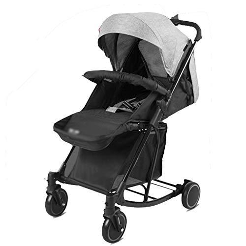 Liux kinderwagen, antishock vouwbaar, lichtgewicht kinderwagen met ligpositie, inklapbaar, variabele schommelstoel, veiligheidsgordel voor jou om te reizen, maakt het eenvoudig