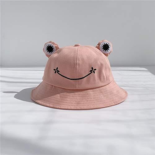 Sombrero de Cubo de protección para la Madre y los niños Sombrero Plano Gorra Sombrero de Sol deVeranoGorra deHip Hop Pescador Chapeau Femme-Pink-1