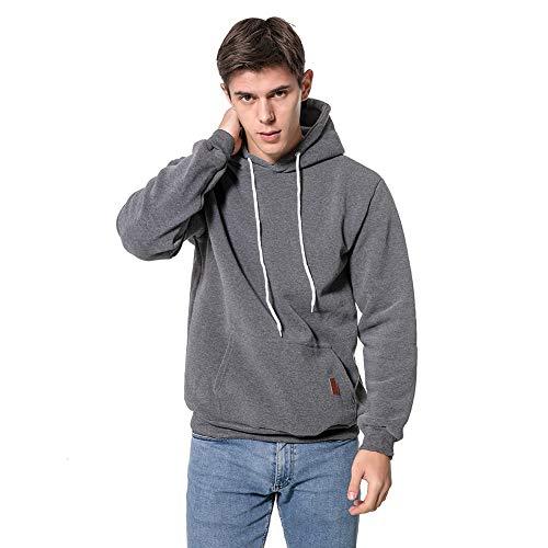 Umelar Herren Kapuzenpullover Herren Hoodie Pullover Hoodie Sweatshirt Sweatjacke (Dunkel grau, XL)