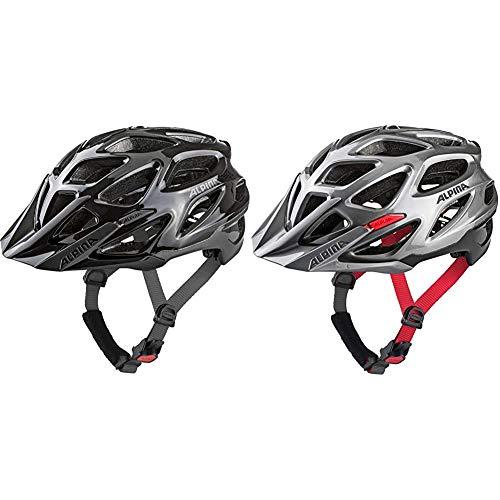 ALPINA Mythos 3.0 Fahrradhelm, Unisex– Erwachsene, Black Anthracite, 59-64 & Mythos 3.0 Fahrradhelm, Unisex– Erwachsene, darksilver-blk-red, 52-57
