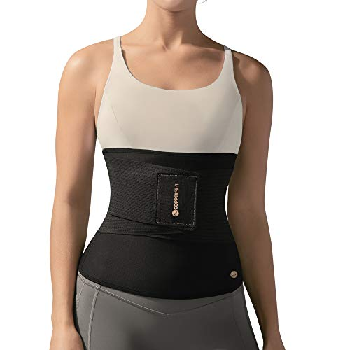 Copper Slim with Waist Trainer for Women - Compression Stomach Slimmer Shaper Belt with Sweat Band (3XL, Black)
