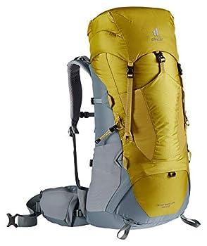 deuter AircontactLite Sac à dos de trekking, Mixte Adulte, Jaune/Bleu (Curcuma-Canard), 60L