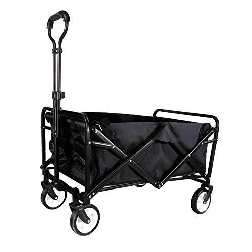Dootie Steel Pipe Garden Cart, Heavy Duty Collapsible Folding Wagon Utility,Black