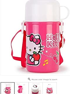 Hello Kitty Water Bottle with Strap and White Cup