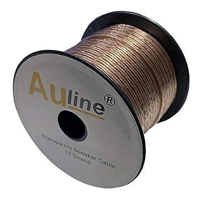 30m of Auline Speaker Cable 13 Strand for Surround Sound Hifi Car Audio System (Transparent)