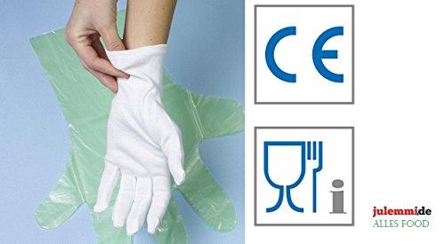 Baumwollhandschuhe weiß Größe M/L/XL/XXL - Polierhandschuhe Unterziehhandschuh Eindeckhandschuhe Confiserie-, Gastronomie-, Catering-Handschuhe, Karneval-Handschuhe (12 Paar XXL)