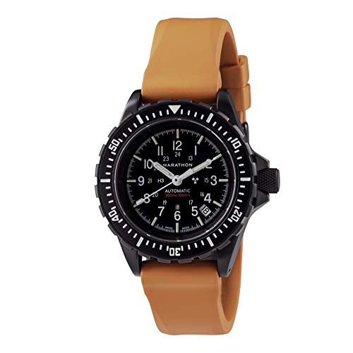 Marathon GSAR Swiss Made Military Issue Diver's Automatic Watch (41mm, Anthracite Black with Orange...