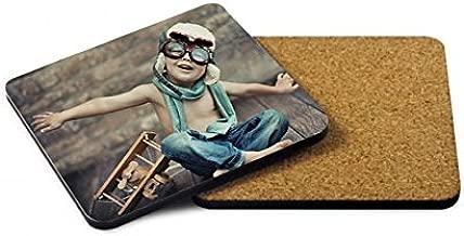 Posavasos Personalizado con Fotos y Texto   Forma Cuadrada