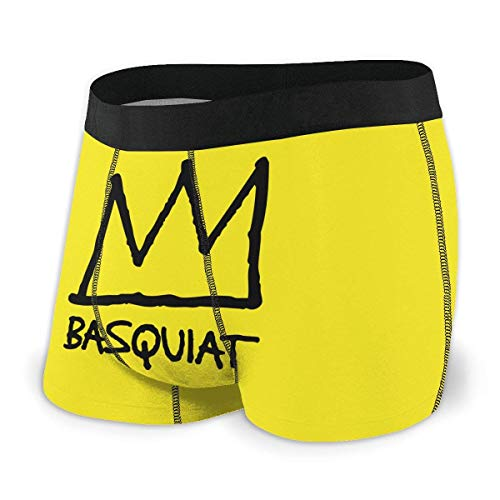 Shichangwei Jean Michel Basquiat Boxer da Uomo Intimo Comfort Boxer Traspirante Elasticizzato