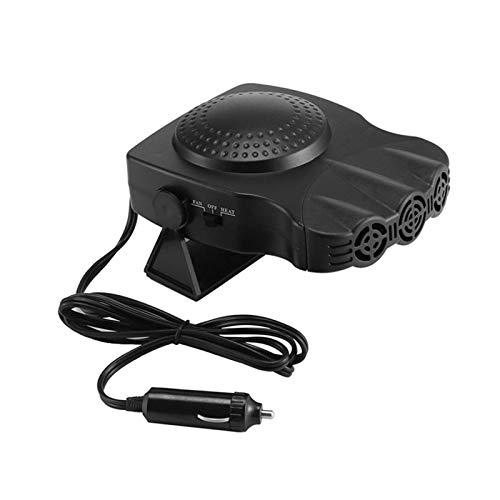 CHENJIAO Auto-Heizung 12v 150w Auto Auto Heater Tragbarer 2 In 1 Heizung Kühlung Ventilator-Auto-Trockner Frontscheibenentfrostung Demister Mit Swing-Out Griff (Color Name : Black)