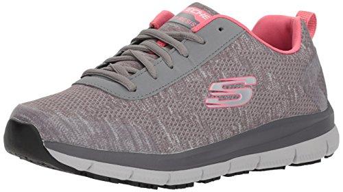 Skechers Women's Comfort Flex Sr Hc Pro Health Care Professional Shoe,gray/pink,7 M US