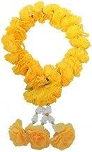 wonderflowers Round Circle Artificial Yellow Marigold Garland for Make a Wish