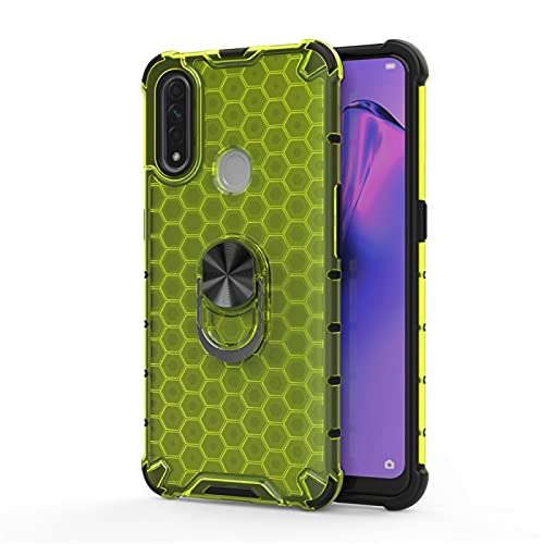 Liluyao Funda telefónica para Xiaomi para Xiaomi redmi Nota 7/7 Nota Estuche de protección Pro sostenedor del Anillo TPU Prueba de Golpes Panal de la PC (Color : Green)