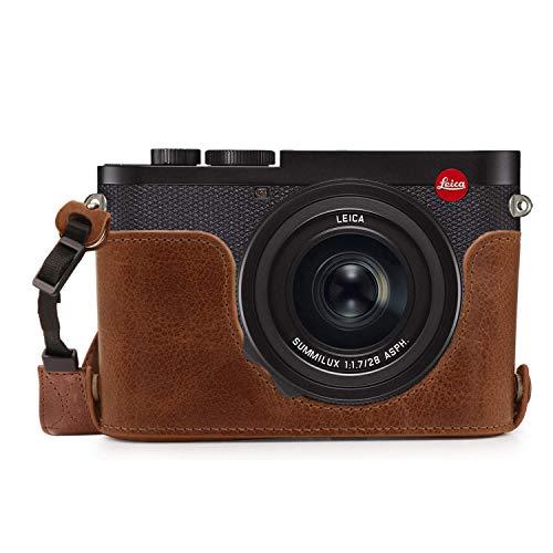 MegaGear Ever Ready - Funda de Piel para cámara Leica Q2
