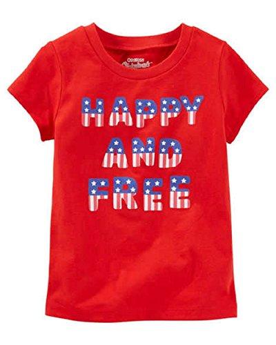 OshKosh Baby Girls' Happy and Free Graphic T-Shirt (12 Months)… Red