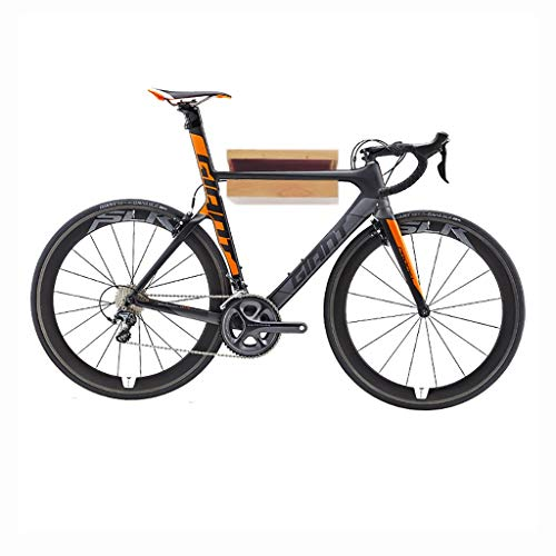 Indoor Wall-mounted Bicycle Parking Rack - Solid Wood Road Bike Storage Shelf for Garage or Home - Bicycle Shop Display Stand (Color : A)