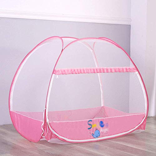 LOKKG Babybett Moskitonetze Faltbare bewegliche Bett-Überdachung Reisebett Pop Up Moskitozelt für 0-3 Jahre alt (120 * 80cm)