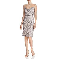 Light Pearl/Natural Slvless Sequin Lace Dress