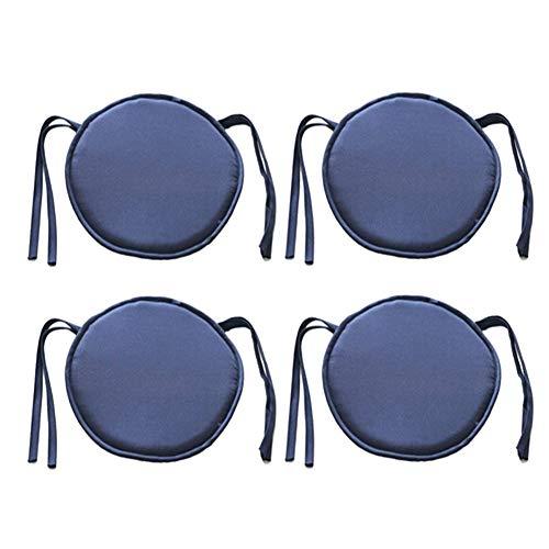 Joasung - Cojines Redondos extraíbles para sillas de jardín, con Lazos para Decorar el Patio, la casa, el Coche, el sofá, la Oficina, el Tatami, para Interiores y Exteriores, 40 x 40 cm