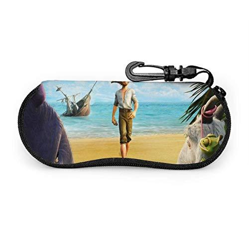 Robinson Crusoe Brillenetui Wasserdicht mit Karabinerhaken für Schutzbrillen mit Reißverschluss, tragbare Sonnenbrille Softcase, Gürtelclip