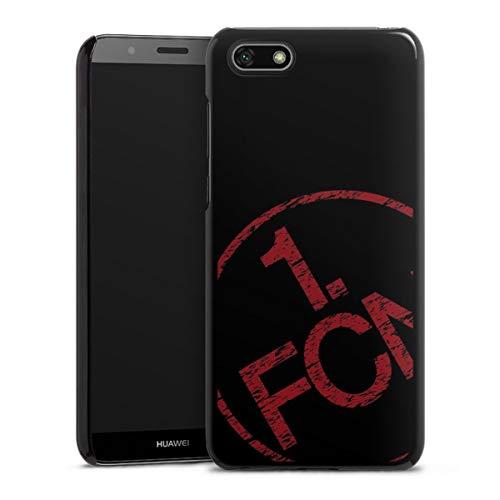 DeinDesign Hard Hülle kompatibel mit Huawei Y5 2018 Schutzhülle schwarz Smartphone Backcover Fanartikel 1. FCN Textur