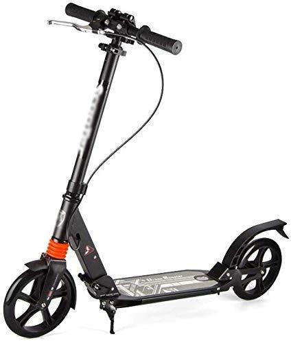 Sport Roller Mini Scooter Erwachsene Tretroller Doppelbrems Urban Scooter Folding Einstellbare Scooter, Schwarz