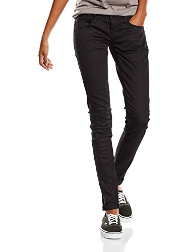 G-STAR RAW Damen 3301 Deconstructed Low Waist Skinny Jeans, Schwarz (Rinsed 6960-082), 28W / 32L