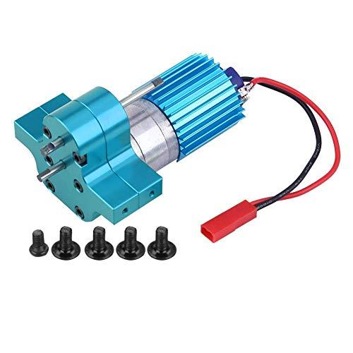 VGEBY1 Bürsten-Motor-Satz, buntes Metallgeschwindigkeits-Änderungs-Getriebe mit 370 Bürsten-Motor für RC Auto(Blau)