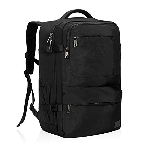 Hynes Eagle 44L Carry on Backpack Flight Approved Compression Travel Pack Cabin Bag, Black