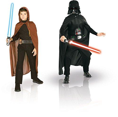 Rubie's-déguisement officiel - Star Wars-Bipack Jedi et Dark Vador pour garçon-Taille Standard- 155011.0