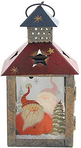 ZCYY Christmas Candle Lantern Santa Claus Flame Light Candlestick Centerpiece Hanging Ornament For Home Wedding Xmas Tree Decoration