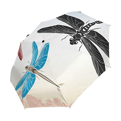 XiangHeFu Regenschirm Libelle Schablone Vektor in DREI Varianten Automatisches Öffnen 3 Falten, leicht, Anti-UV