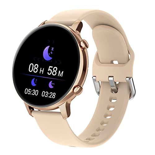 APCHY Reloj Inteligente Smartwatch Los Hombres,Rastreador De Fitness De 1.28 Pulgadas Pantalla Bluetooth Llamada Ritmo Cardíaco Presión Arterial Monitor De Oxígeno De Sangre Mono,Amarillo
