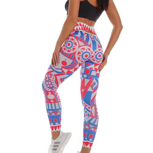QTJY Leggings con Estampado de Camuflaje para Mujer, Moda Sexy, Nalgas Transpirables, Pantalones Deportivos para Mujer, Mallas Deportivas Deportivas G XL