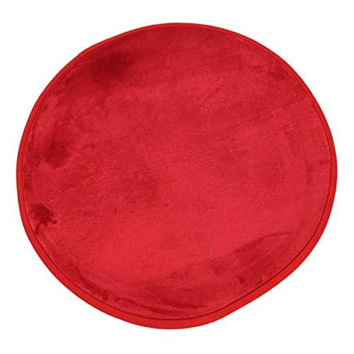 The Deco Factory Tapis Rond Extra Doux Antidérapant, 70 cm Diamètre, Rouge 700009