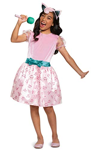 Pokemon Jigglypuff Costume Dress for Girls, Children's Character Outfit, Kids Size Small (4-6x) Pink